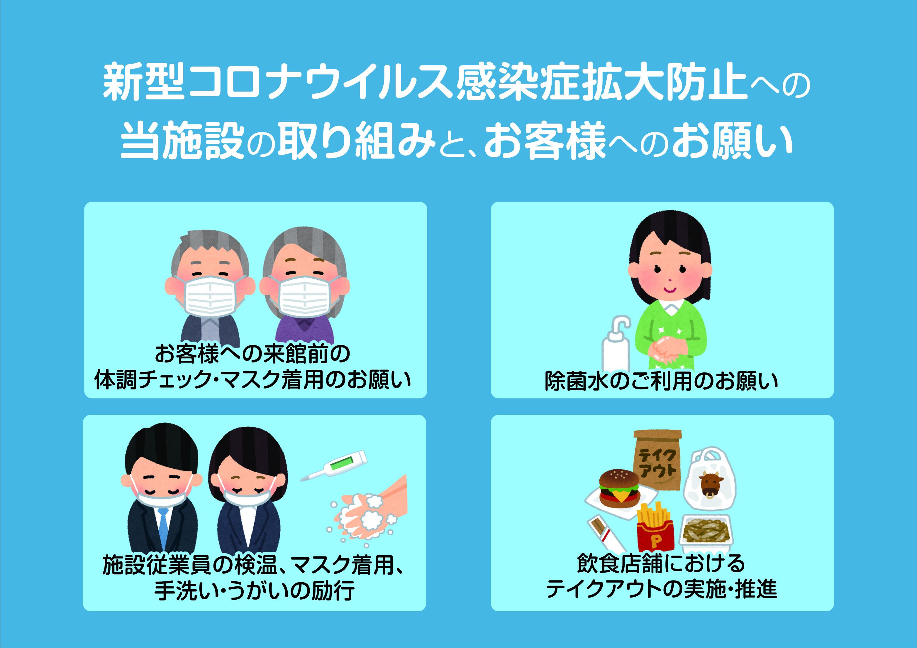 新型コロナウイルス感染症拡大防止への取り組み