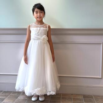 お客様写真館 「天使のハーモニー」オフホワイトセミロングドレス